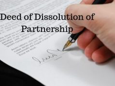 Deed of Dissolution of Partnership