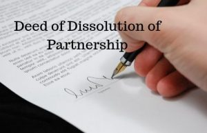 Deed of Dissolution of Partnership