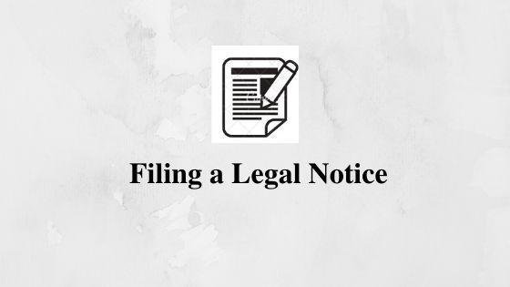Filing a Legal Notice