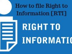 How to file Right to Information [RTI]