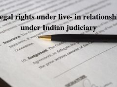 Legal rights under live- in relationship under Indian judiciary