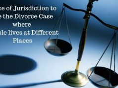 Place of Jurisdiction to file the Divorce Case where Couple lives at Different Places