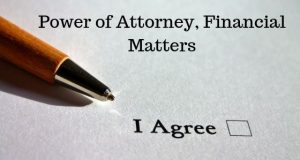 Power of Attorney, Financial Matters