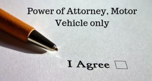 Power of Attorney, Motor Vehicle only