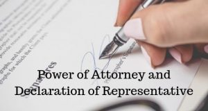 Power of Attorney and Declaration of Representative
