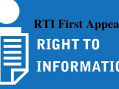 RTI First Appeal