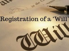 Registration of a 'Will'
