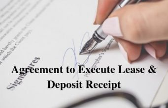 Agreement to Execute Lease & Deposit Receipt