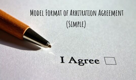 Model Format of Arbitration Agreement (Simple)