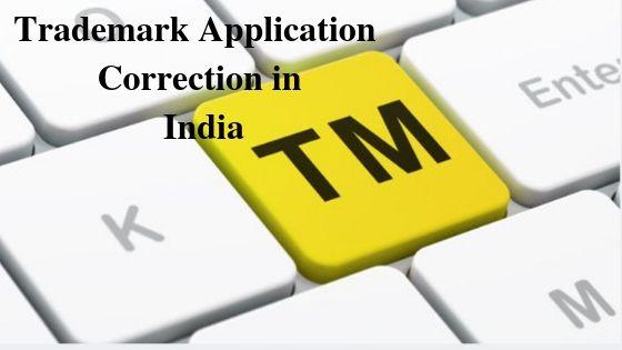 Trademark Application Correction in India