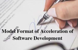 Model Format of Acceleration of Software Development