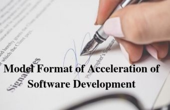 Model Format of Acceleration of Software Development