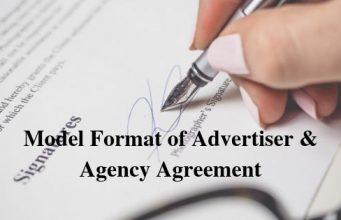 Model Format of Advertiser & Agency Agreement