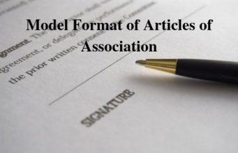 Model Format of Articles of Association