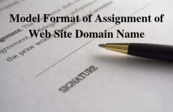Model Format of Assignment of Web Site Domain Name