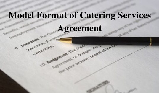 Model Format of Catering Services Agreement