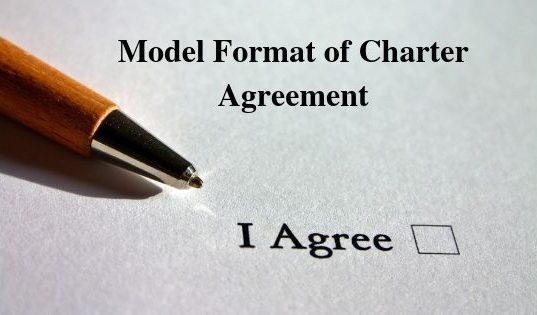 Model Format of Charter Agreement