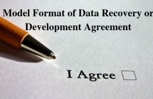 Model Format of Data Recovery or Development Agreement
