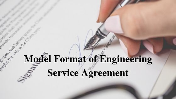 Model Format of Engineering Service Agreement
