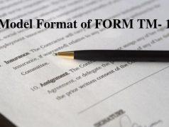 Model Format of FORM TM- 1