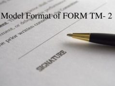 Model Format of FORM TM- 2