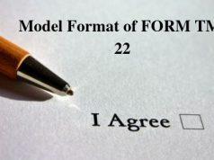 Model Format of FORM TM- 22