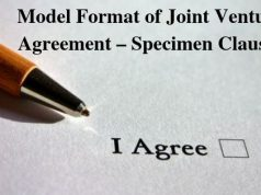 Model Format of Joint Venture Agreement – Specimen Clauses