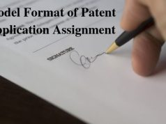 Model Format of Patent Application Assignment