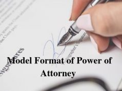 Model Format of Power of Attorney