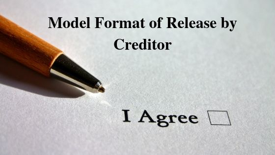 Model Format of Release by Creditor