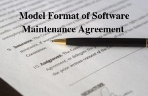 Model Format of Software Maintenance Agreement