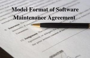 Model Format of Software Maintenance Agreement