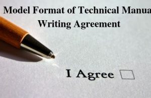 Model Format of Technical Manual Writing Agreement