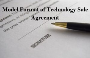 Model Format of Technology Sale Agreement