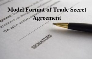 Model Format of Trade Secret Agreement