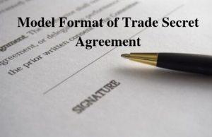Model Format of Trade Secret Agreement