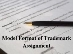 Model Format of Trademark Assignment