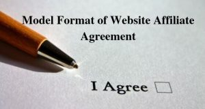 Model Format of Website Affiliate Agreement
