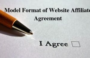 Model Format of Website Affiliate Agreement