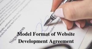 Model Format of Website Development Agreement