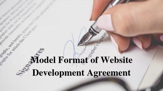 Model Format of Website Development Agreement