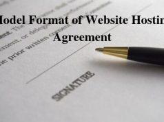 Model Format of Website Hosting Agreement