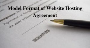Model Format of Website Hosting Agreement