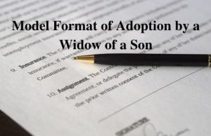 Adoption by a Widow of a Son