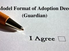 Model Format of Adoption Deed (Guardian)