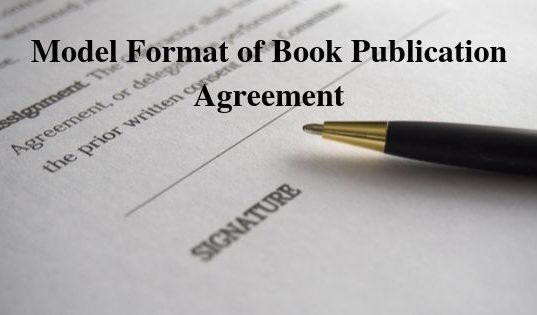 Model Format of Book Publication Agreement