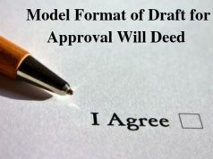 Model Format of Draft for Approval Will Deed