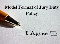 Model Format of Jury Duty Policy
