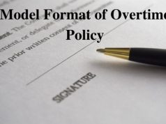 Model Format of Overtime Policy