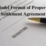 Model Format of Property Settlement Agreement